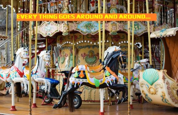 Traditional Parisian merry-go-round