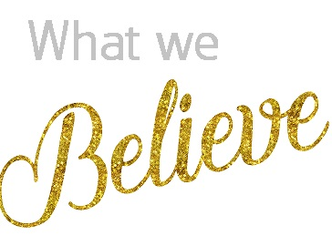 Believe Gold Faux Foil Glittery Metallic Inspirational Quote Iso