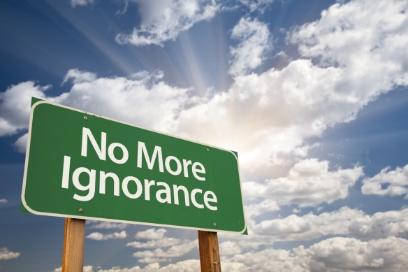no more ignorance