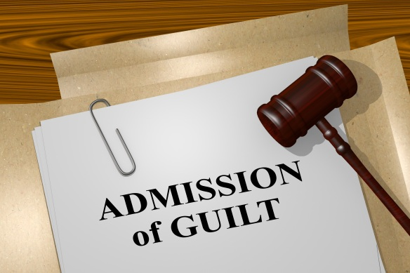 Admission of Guilt - legal concept
