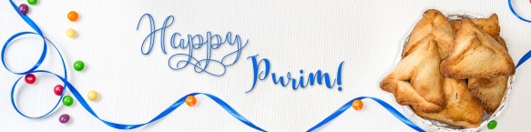 Purim banner, holiday greeting