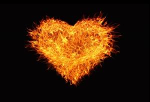 burns heart